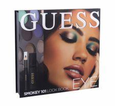 GUESS Eye, Look Book, rinkinys akių šešėliai moterims, (akių šešėliai 12 x 1,16 g + blakstienų tušas Black 4 ml + akių kontūrų pieštukas Black 0,5 g + Mirror), (101 Smokey)