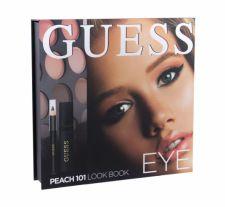 GUESS Eye, Look Book, rinkinys akių šešėliai moterims, (akių šešėliai 12 x 1,16 g + blakstienų tušas Black 4 ml + akių kontūrų pieštukas Black 0,5 g + Mirror), (101 Peach)