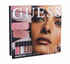 GUESS Lip, Look Book, rinkinys lūpdažis moterims, (lūpdažis 3 x 4 ml + Lip Shine 3 x 4 ml + MIrror), (101 Nude)
