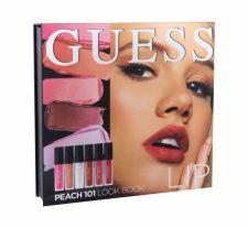 GUESS Lip, Look Book, rinkinys lūpdažis moterims, (lūpdažis 3 x 4 ml + Lip Shine 3 x 4 ml + Mirror), (101 Peach)
