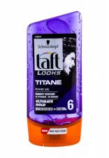 Schwarzkopf Taft, Titan Look Power Gel, plaukų želė vyrams, 150ml