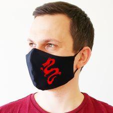 """Veido kaukė """"Dragon silhouette"""""""