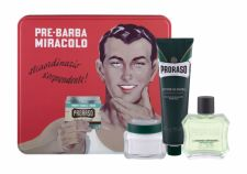PRORASO After Shave Lotion, Green, rinkinys losjonas po skutimosi vyrams, (losjonas po skutimosi 100 ml + skutimosi kremas 150 ml + Before-skutimosi kremas 100 ml + Jar)