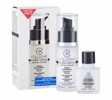 Collistar Attivi Puri Hyaluronic Acid, Linea Uomo, rinkinys veido serumas vyrams, (Facial Serum 30 ml + balzamas po skutimosi 15 ml)