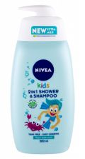 Nivea Kids, 2in1 Shower & Shampoo, dušo želė vaikams, 500ml
