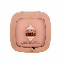 L´Oréal Paris Glam Beige, Healthy Glow, kompaktinė pudra moterims, 9g, (Light)