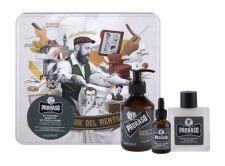 PRORASO Beard Wash, Cypress & Vetyver, rinkinys šampūnas vyrams, (Beard šampūnas 200 ml + Beard Balm 100 ml + barzdos aliejus 30 ml + Jar)