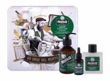 PRORASO Beard Wash, Eucalyptus, rinkinys šampūnas vyrams, (Beard šampūnas 200 ml + Beard Balm 100 ml + barzdos aliejus 30 ml + Jar)