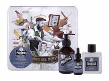 PRORASO Beard Wash, Azur Lime, rinkinys šampūnas vyrams, (Beard šampūnas 200 ml + Beard Balm 100 ml + barzdos aliejus 30 ml + Jar)
