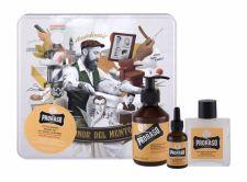 PRORASO Beard Wash, Wood & Spice, rinkinys šampūnas vyrams, (Beard šampūnas 200 ml + Beard Balm 100 ml + barzdos aliejus 30 ml + Jar)