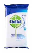 Dettol Antibacterial, Cleansing Surface Wipes, Antibacterial Product moterims ir vyrams, 36pc