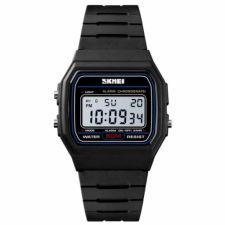 Vyriškas, Moteriškas laikrodis SKMEI  1412 BKWT Black White