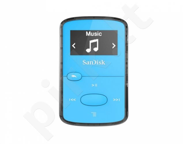 Sandisk CLip Jam MP3 Player 8GB, microSDHC, Radio FM, Blue