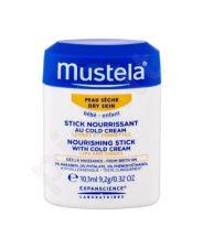 Mustela Bébé, Nourishing Stick With Cold Cream, dieninis kremas vaikams, 10,1ml