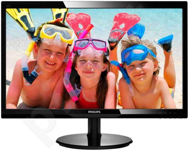 Monitorius Philips 246V5LSB 24' LED FHD, DVI, Juodas