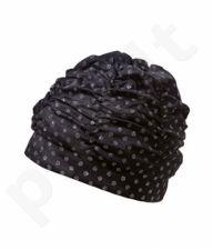Kepuraitė plauk. mot. fabric 7686 011 black/silv