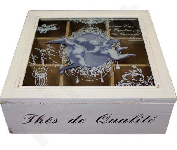 Dėžutė su skyreliais 8x24x24 cm