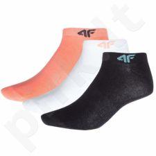 Kojinės 4f W H4Z18-SOD001 baltas , rožinė, juodas