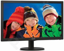 Monitor Philips V-line 243V5LHAB/00, 23.6'' LED FHD, DVI/HDMI, ES 6.0, black