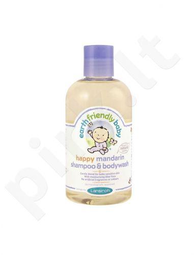 Šampūnas ir kūno prausiklis kūdikiams EARTH FRIENDLY BABY, mandarinų kvapo, 250 ml
