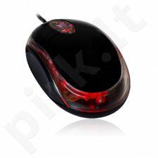 Optinė pelė VAKOSS USB 3D, 1000dpi Blupop BM200 Juoda