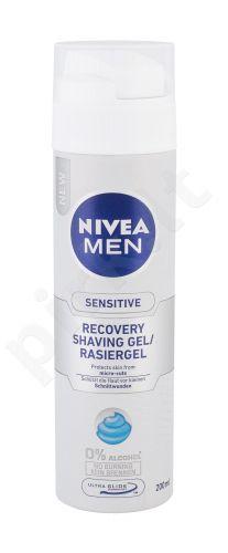 Nivea Men Sensitive, Recovery, skutimosi želė vyrams, 200ml