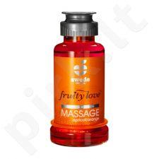 Vaisinis masažo aliejus Abrikosas/Apelsinas (100 ml)