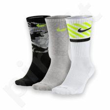 Kojinės Nike Dri-Fit Triple 3 poros SX4966-909