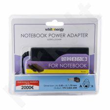 Nešiojamo kompiuterio pakrovėjas Whitenergy 19V/3.42A 65W, 5.5x1.7mm Acer Iškili
