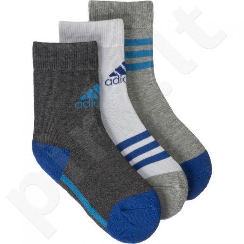 Kojinės Adidas Kids Crew 3 pak AB2218