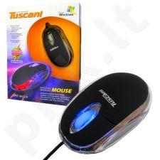 Pelė 4world Optinė Tuscani Mini USB Spalvotas pašvietimas
