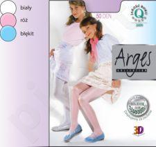 Vienspalvės pėdkelnės su satininiu blizgesiu mergaitėms 50 denų storio (balta)