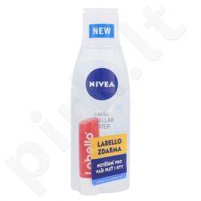 Nivea Caring micelinis vanduo normalei odai rinkinys moterims, (micelinis vanduo 200 ml + lūpų balzamas 5,5 ml Strawberry Shine)