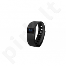 GoClever GCWSBB, Smart band black, Silicone, Colour LCD. Bluetooth. Notification of incoming phone calls and sms.