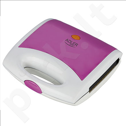 Adler AD 3021 Waffle maker, Non-stick coated plates, Ready indicator, Violet