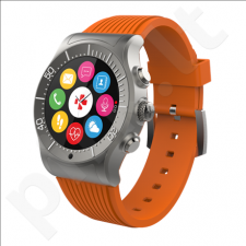 MyKronoz ZESPORT Smartwatch, Titanium/orange, Touchscreen, Bluetooth, Heart rate monitor, GPS (satellite), Waterproof