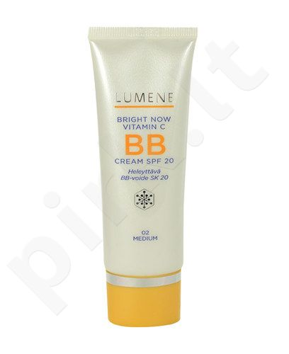 Lumene Bright Now Vitamin C BB kremas SPF20, kosmetika moterims, 50ml, (02 Medium)