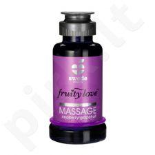 Vaisinis masažo aliejus Avietės/Greipfrutas (100 ml)