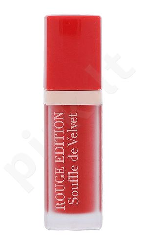 BOURJOIS Paris Rouge Edition Souffle de Velvet Lūpų dažai, kosmetika moterims, 7,7ml, (02 Coquelic´oh!)