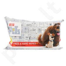 Universalios The Secret Life Of Pets veido ir rankų drėgnos servetėlės, kosmetika moterims, 72vnt