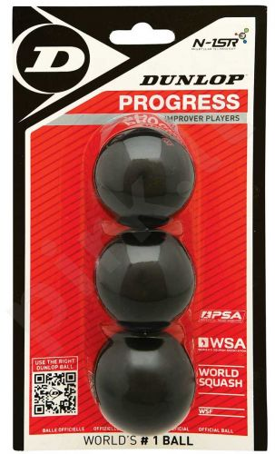 Skvošo kamuoliukai Progress 3-blister,1raud.taš