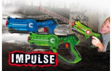 Jamara Impulse Laser Battle Set Green Blue