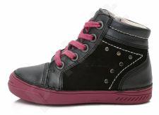 D.D. step juodi batai 25-30 d. 040420bm