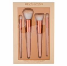 Makeup Revolution London Conceal & Define, rinkinys šepetėlis moterims, (Conceal and Define Brush Set 4 pieces)