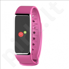 MyKronoz Zefit 3HR Smartwatch, Pink/Silver, 100 mAh, Touchscreen, Bluetooth, Heart rate monitor, Waterproof