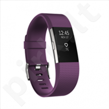 Fitbit Flex Fitness Tracker  Charge 2 Plum Silver - Small FB407SPMS-EU  OLED