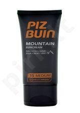 Piz Buin Mountain Sunkremas SPF15, kosmetika moterims, 40ml