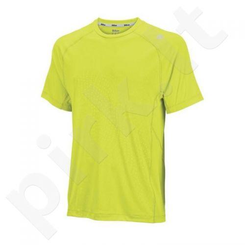 Marškinėliai tenisui Wilson Spring Embossed Crew M WRA701801