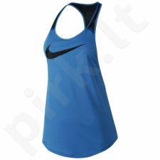 Marškinėliai treniruotėms Nike Flow Graphic Tank W 726452-435