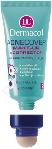 Dermacol Acnecover Make-Up & Corrector 02, 30ml, makiažo pagrindas ir korektorius linkusiai spoguotis odai